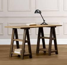 wood ikea sawhorse desk