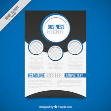 Abstract Business Brochure With Blue Circles Vector Free Download