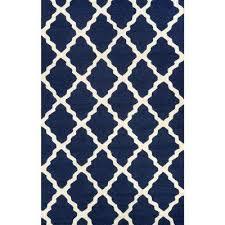 trellis navy blue 5 ft x 8 ft area rug