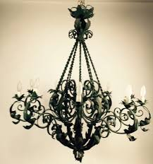 lot 413 a large antique wrought iron chandelier