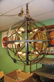 thomas edison light fixtures industrial sphere chandelier metal strap globe hanging light with bulbs wine barrel orb globe chandelier hanging spheres thomas