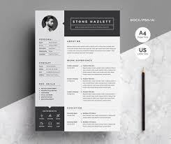 How Many Pages Is A Modern Resume 2 Pages Modern Resume Template Cv Template One Page