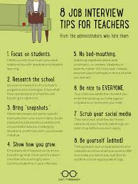 What Do Jobs Look For Job Interview Advice For Teachers Student Life Pinterest