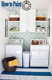 How To Paint Vinyl Or Laminate Flooring | Laundry Room Makeover @KellyatVATW