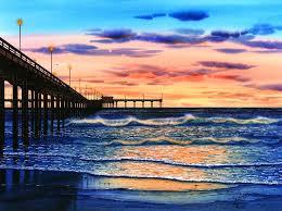 ocean beach painting ocean beach sunset by john yato