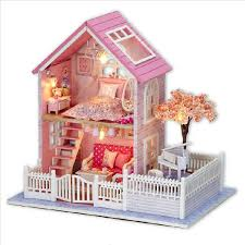 cheap doll houses with furniture. aliexpresscom buy big assembling diy dollhouse miniature furniture model kit wooden doll house wood for birthday gift toy from reliable dolls cheap houses with