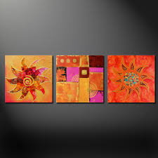 abstract sun modern design 3 panels canvas print picture wall art free uk p p