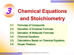 3 chemical equations and stoichiometry 3 1 formulae of compounds