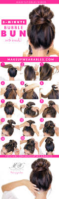how to easy messy bun hairstyle with braids hairstyles for um long hair