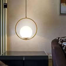 rose gold ball globe sphere pendant light fixture modern korean nordic hanging lamp ings decoration dining