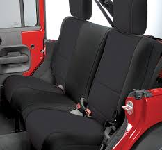 rugged ridge custom fit neoprene rear seat covers for 07 18 jeep wrangler jk 2 door 11367
