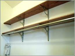 wall mount clothes rod wall shelves for clothes shelf with clothes rod medium size of closet wall mount clothes rod