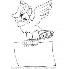 Bald Eagle Outline Clip Art Of A Coloring Page Of A Bald Eagle Hawk