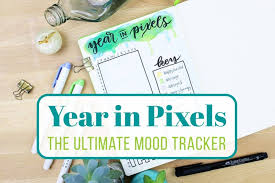 A Year In Pixels The Ultimate Mood Tracker Littlecoffeefox