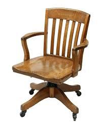 antique wooden swivel desk chair oak office co lot wood vintage