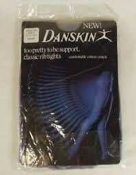 Danskin Tights Plus Size Chart Details About New Vintage 1984 Danskin Smoke Color Classic Rib Tights Size C See Size Chart