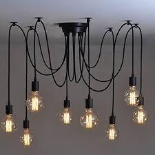 onever e27 loft antique chandelier modern chic industrial dining light ajule diy ceiling spider light pendant