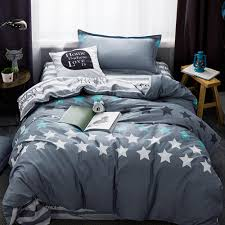 grey stars duvet cover set twin size bedding set for s 100 cotton stripes bed sheets pillow case grey pillow case duvets sets cover duvet from