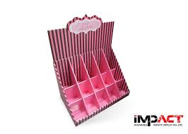 Table Top Product Display Stands Cool Store Tabletop Greeting Card Display Stands With Striped 32pcs Pockets