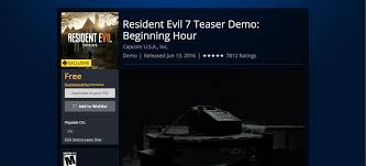 Resident Evil 7 biohazard: playable teaser available now in PS Store -  SlashGear