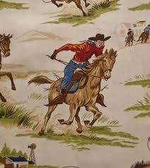 Wild West Cowboy Horse Lasso Western Horseback Rodeo Cowboys ... & Wild West Cowboy Horse Lasso Western Horseback Rodeo Cowboys Cotton Quilt  Fabric RK83 Adamdwight.com
