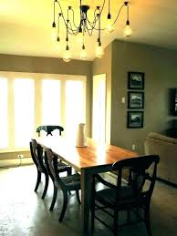 hanging chandelier over table chandeliers nightstands two dining kitchen lights height to hang light t