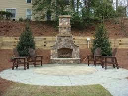 garden outdoor fireplace plans