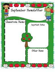 Teachers Newsletter Templates Monthly Editable Newsletter Templates Preschool Newsletter