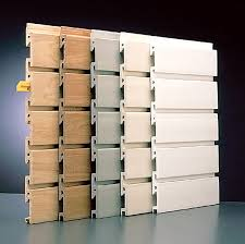 similar to siding each light weight panel snaps into the next creating a slatwall
