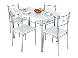 Table De Cuisine Ronde En Verre Avec Chaises Inspiration Cuisine