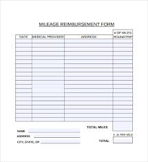 Travel Reimbursement Form Template Sample Travel Reimbursement Policy