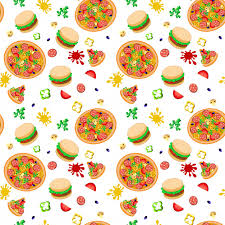 pizza pattern wallpaper. Beautiful Pizza Pizza And Burger Wallpaper Pattern With Colorful Elements Premium Vector On Pattern Wallpaper E