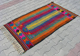 turkish kilim area rug 40 x 70 in bright colors view in gallery