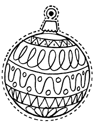Educations Christmas Christmas Ornament Coloring Pages Printable