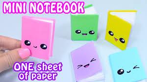 DIY MINI <b>NOTEBOOKS</b> ONE SHEET OF PAPER - DIY BACK TO ...