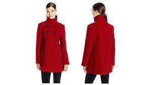 red wool pea coat coat coats winter coats winter coats for women winter red wool pea coat