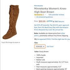 Minnetonka Size Chart Size 10 Women S Knee High Minnetonka Boots Nwt