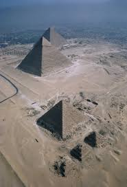 view of city and giza pyramids from cairo citadel cairo the pyramids of menakure the pyramids of khafre the pyramids of khufu limestone