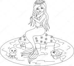 Zeemeermin Ariel Kleurplaat Ariel De Kleine Zeemeermin Kleurplaten