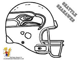Small Picture SEATTLE NFL coloring pages Football Helmet Coloring Page