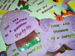 Birthday Invitations Specially Home Made Youtube