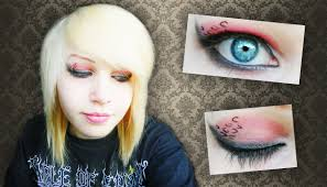 emo scene makeup tutorial with leopard print effect