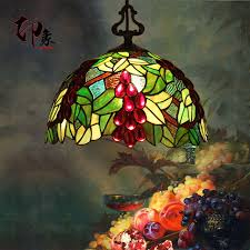 tiffany stained glass lamp. 12Inch Grape Tiffany Pendant Light Stained Glass Lamp For Bedroom E27 110-240V L