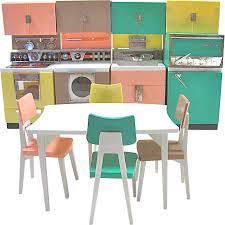 Barbie Kitchen Furniture Deluxe Reading Dream Kitchen Set Fits Barbie Dolls Vintage 1961
