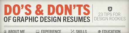 Graphic Resume Dos Donts Of Graphic Design Resumes Tips For Rookies