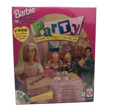 details about vine 1997 barbie party print n play cd rom pc game mattel for windows 95 98