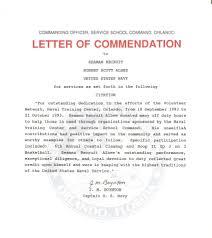 commendation letter sample best photos of example letter of commendation navy
