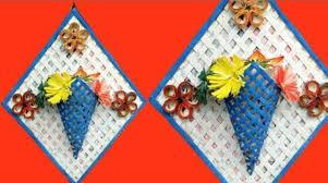 News Paper Flower Vase How To Make Newspaper Flower Vase Step By Step Tutorial