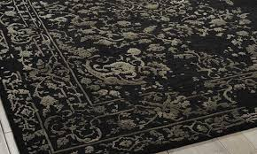 picture of nourison hand tufted opaline midnight silver 8x10 rug