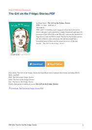 Pub.23] Download The Girl on the Fridge: Stories by Etgar Keret PDF
